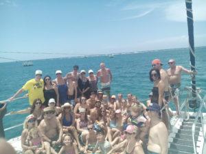 Group Catamaran Negril boat tour jamaica