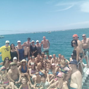 Group Catamaran to Dunn river falls jamaica