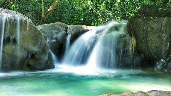 double falls from Royalton Blue Waters