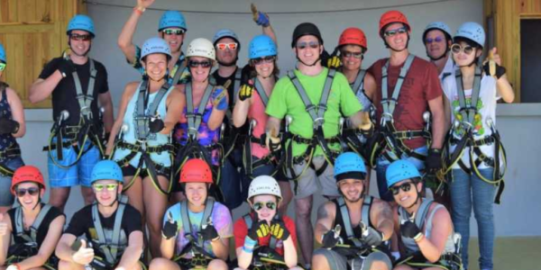 Zipling our Negril